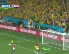 Brazil vs Croatia 11 NEYMAR GOAL FOR BRAZIL
