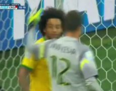 Brazil vs Croatia 01 2014 Marcelo Own goal FIFA World Cup 2014 Brazil