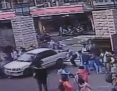 Raw Video: Car Runs Over Students, Injures 4