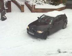 Car crash in the snow