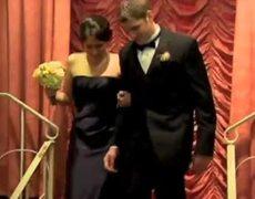 Guy drops girl at wedding