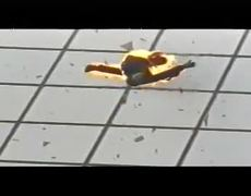 Man On Fire Jumps From Skyscraper
