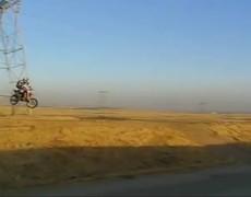 Impresionante accidente en moto