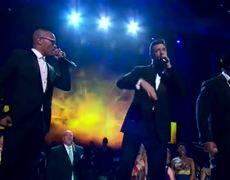 Tony Awards 2014 Hugh Jackman LL Cool J and TI Rap
