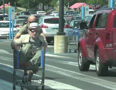 Old Man Shopping Cart