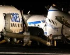 Primeras imágenes del accidente de avión en San Andrés, Colombia
