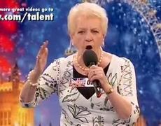 Britain's got talent - Amazing old lady