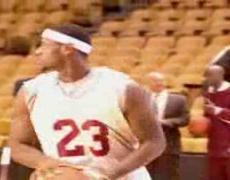LeBron James, long distance shooting practice