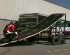 Funny Mini Bike Jump Stunt