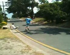 Skate Guys Painful Downhill Crash