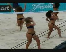 hot sexy girls bikini dance cheerleaders