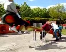 Funny Seesaw accident