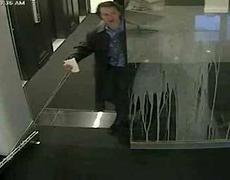 Dumb Guy Walks Into Glass Door