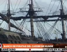 Ship used in Pirates of the Caribbean sinks in Caribbean waters
