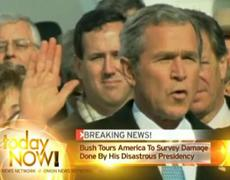 Bush Tours Damage Caused by Presidency
