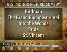 72nd annual Golden Globe nominations announced 2015