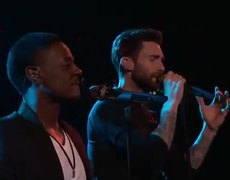 The Voice USA 2014: Adam Levine and Damien: