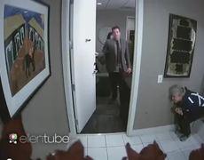 OMG - Ellen Scares Jimmy Fallon in Bathroom (Video)