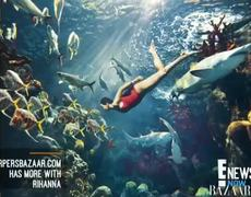 Rihanna Swim With Sharks!