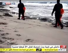 Raw - Islamic State release video showing beheading of 21 Egyptian