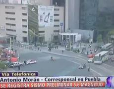 Se registra sismo de 5.6 grados en la Ciudad de México