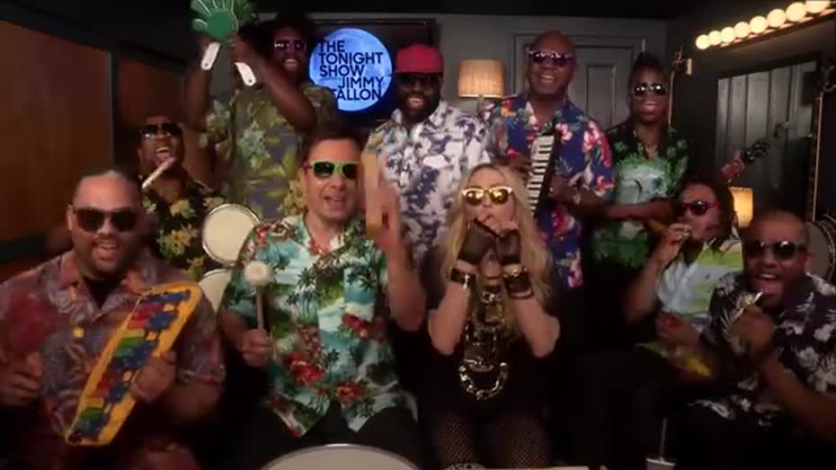 Jimmy Fallon, Madonna & The Roots Sing \