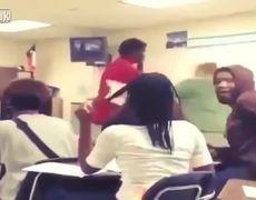 Caught on Video Big Student KO Elderly Femaile Teacher to the Ground