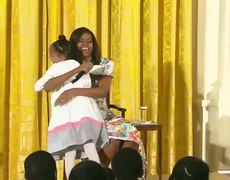 Video - Little girl to Michelle Obama: You're too young for 51!
