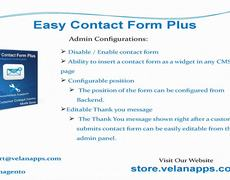 Magento Easy Contact Form Plus - Store.velanapps.com