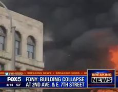 Breaking News - Burning Building Collapses After Massive Fire, Explosion in Manhattan East Village, NYC |VIDEO