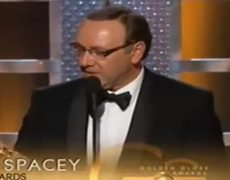 Golden Globes 2015 - Kevin Spacey Speech Gets Bleeped: