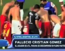 Futbolista argentino muere en pleno partido