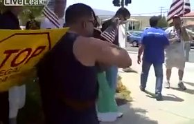 Mexican mocks anti-immigrant protests