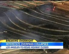 News LA Bridge Collapse Caught on Tape