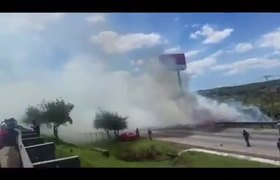 VIDEO: Fall of the plane in Mexico-Queretaro highway