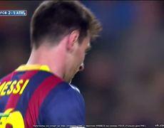 Barcelona vs Athletic Bilbao 21 Lionel Messi Free Kick Goal