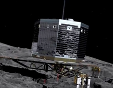 Rosetta Mission Philae landing on the comet for the first time