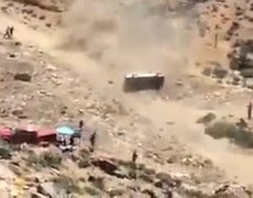 VIDEO: Apdaly Lopez crash and rollover in the Baja 500 2015