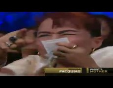 Manny Pacquiao vs Timothy Bradley Manny Pacquiaos mom is the star of the night Box Fight