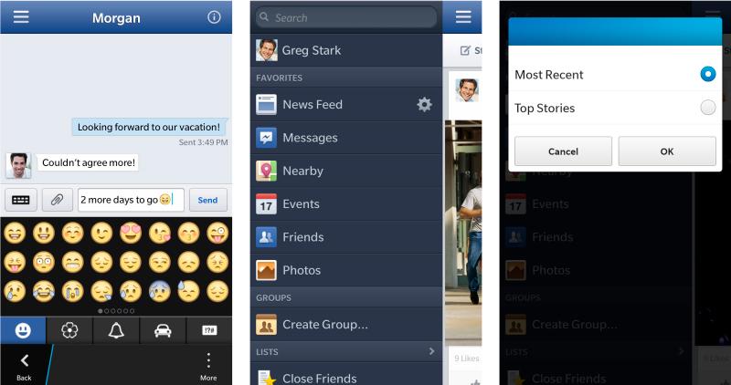 Facebook para BlackBerry 10 recibe actualización y nuevas