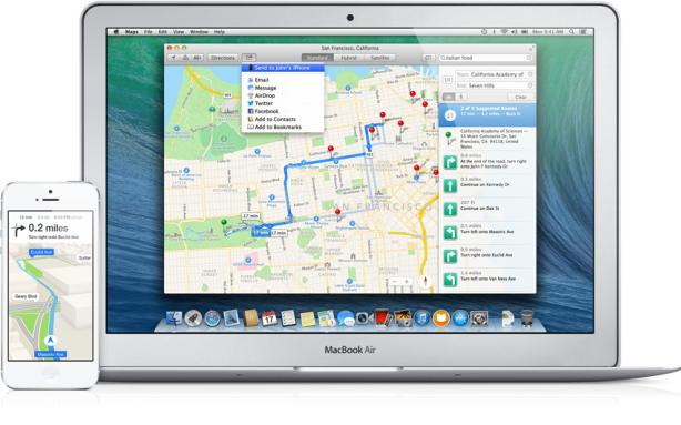 Mavericks podrá compartir Mapas con iOS