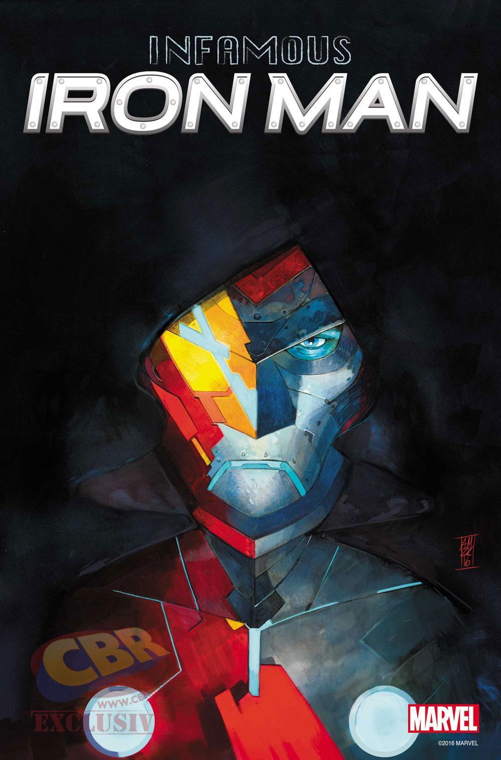 """Portada de """"Infamous Iron Man"""" #1, por Alex Maleev. """"Hay un nuevo Iron Man en la ciudad y su nombre es Victor Von Doom. Uno de los mayores villanos del universo Marvel intentará algo nuevo. Donde Tony Stark falló, Doom tendrá éxito. ¿Cuál es el plan maestro de Doom?"""""""