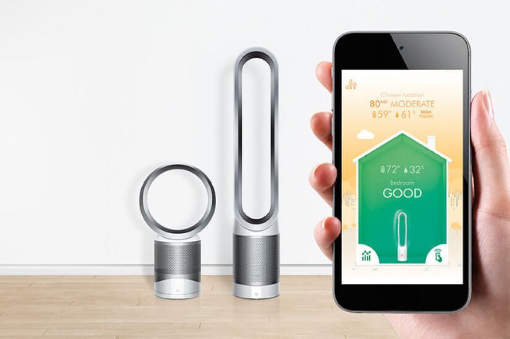 El Pure Hot+Cold Link lee su entorno y ajusta el flujo de aire en base a la calidad del aire