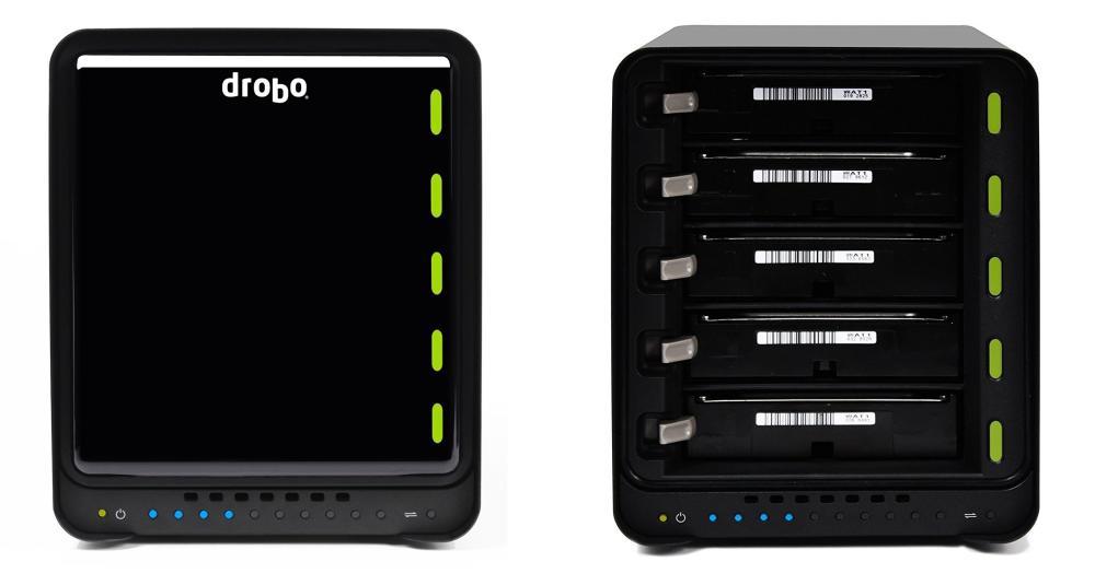 La conexión USB tipo C de Drobo 5C promete velocidades de transferencia de hasta 250MB por segundo, dependiendo del disco que se utilice