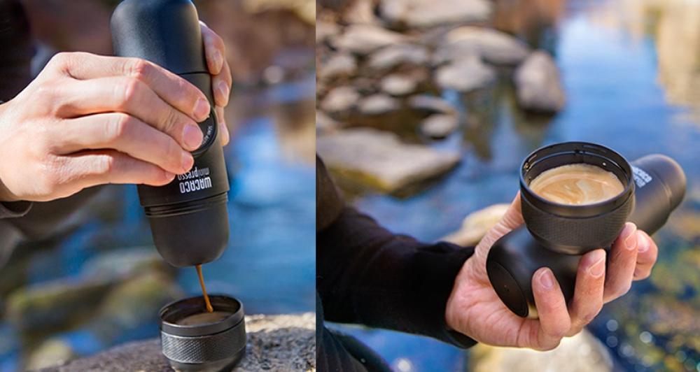 El diseño de Minipresso es muy compacto (mide 175 mm de largo) y ligero (pesa 360 gramos)