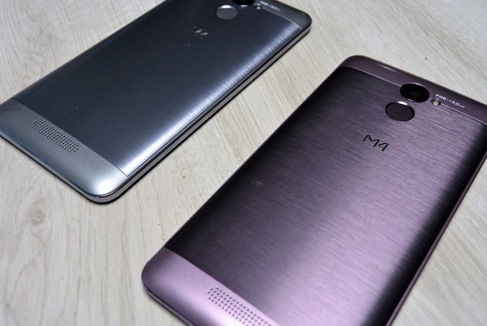 El smartphone M4 Attitude, con un precio de $3,999.00 MXN.