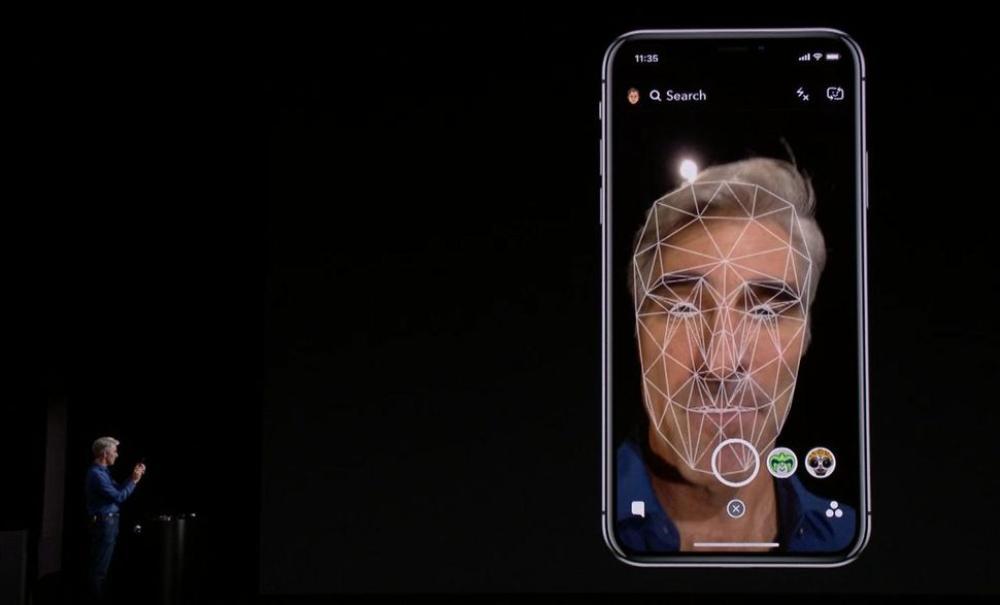 Face ID en la presentación del iPhone X.