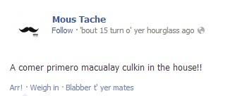 """""""Let's eat first, Macaulay Culkin in the house"""""""