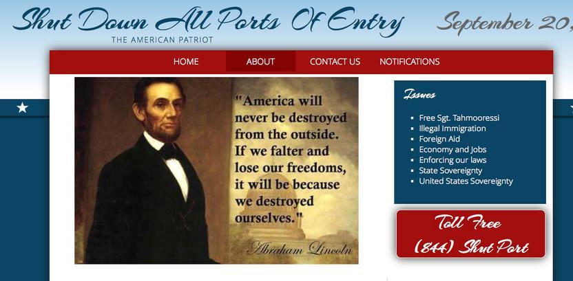 Imagen del sitio web de la protesta.