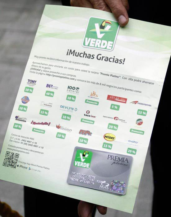 La tarjeta de descuento. Foto: Gerardo Fernandez Noroña.